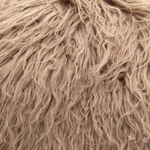 Fake Faux Fur Curly Alpaca Taupe 58 Inch Wide Fabric By The Yard