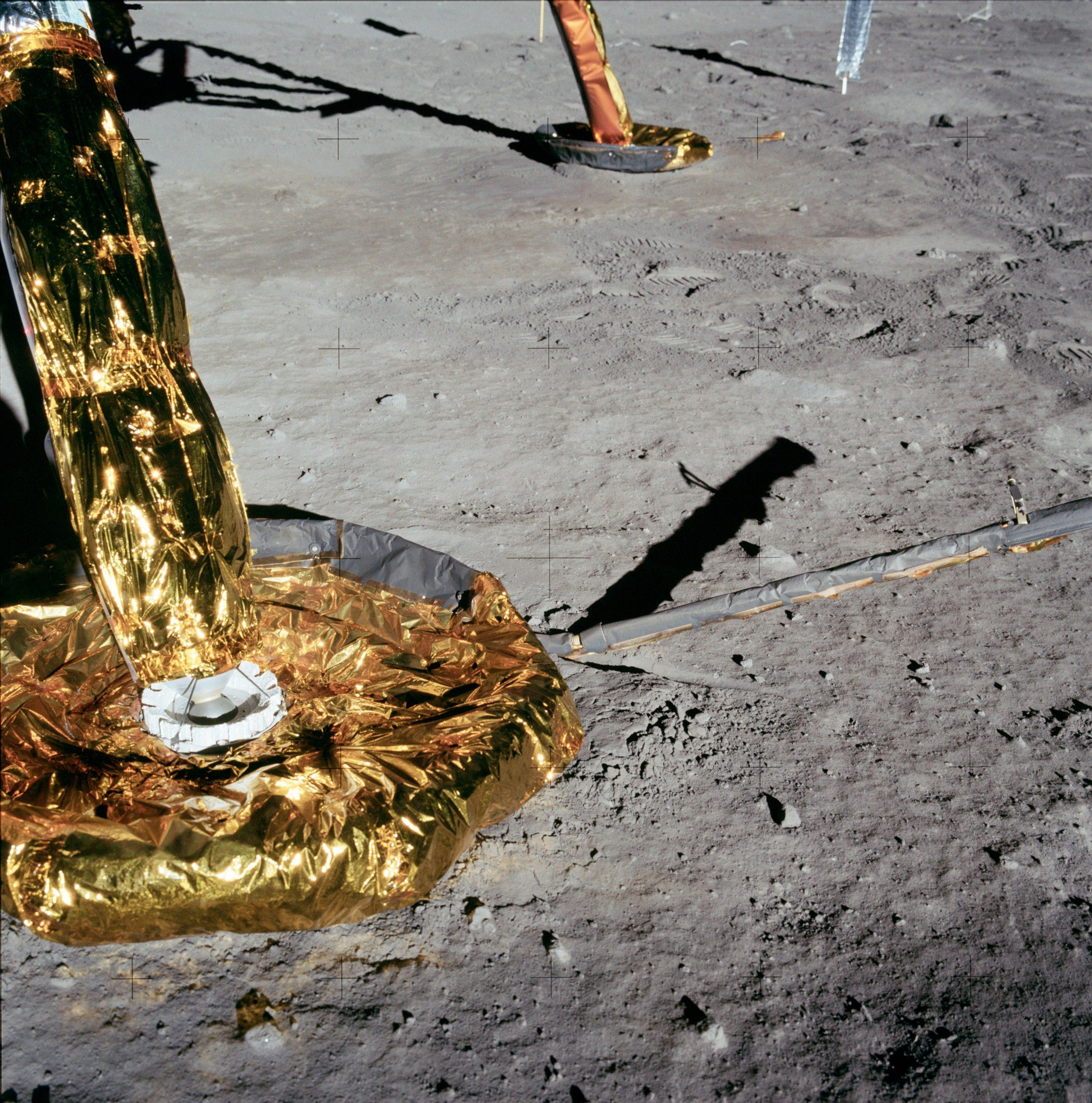 Apollo foot from outer and inner space Apollo 11 moon