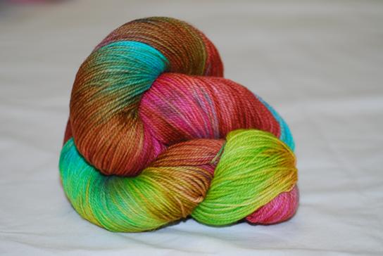 Quirky Caterpillar 100g Merino Nylon 4ply Sock Hand Dyed Yarn /'Delicious/'