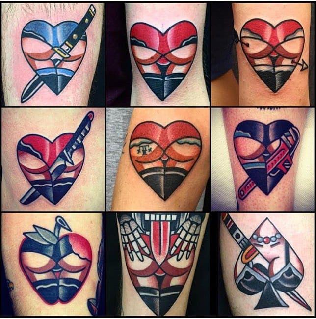 Hearts butts tattoo | tattoos | Tattoos, Hart tattoo, Tattoo ...