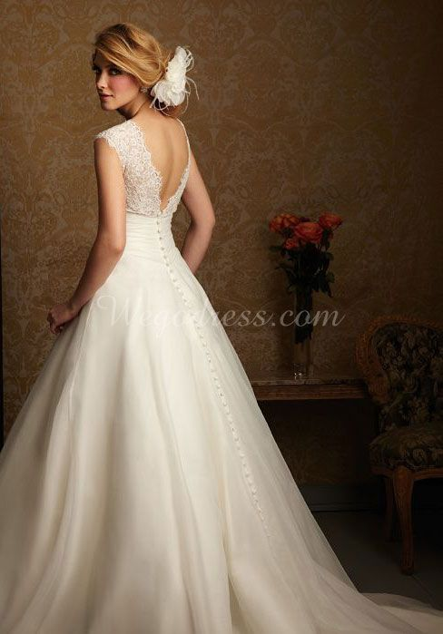 Lace Back Wedding Dresses - Part 1 | Vestidos de novia, Novios y De ...