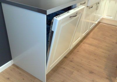 Fully Integrated Dishwasher Concealed By A Door Panel Kitchen