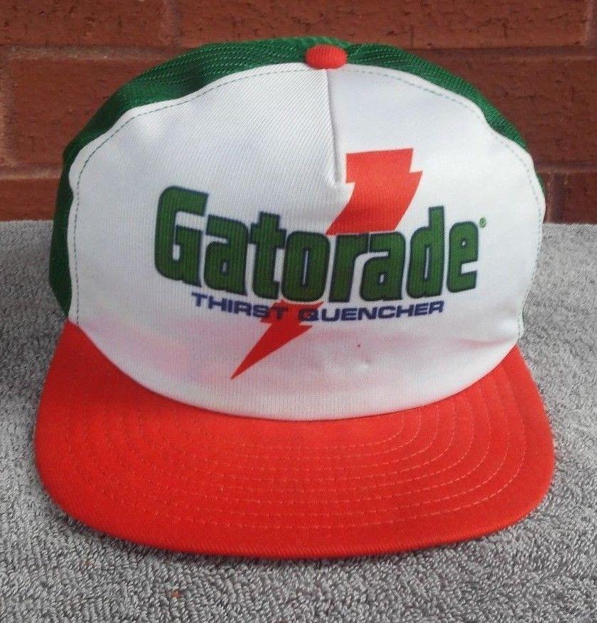 f89a77388c8704 Gatorade Hat Cap Snapback Vtg Louisville Mfg Tri Color Orange Green White   LouisvilleMfg  truckerCapHatMesh