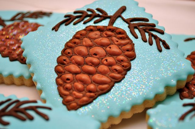 pinecones cookies christmas autumn