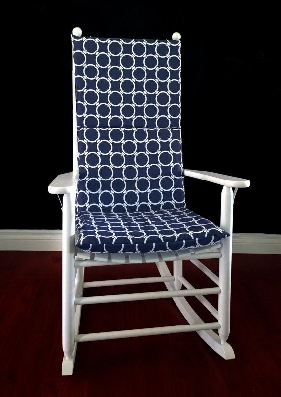 Navy Rocking Chair Pads. navy chair pads solid navy
