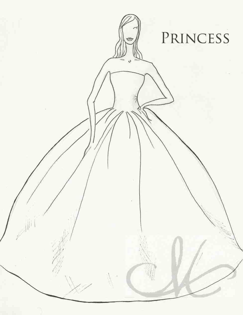Simple Wedding Drawing Dress Drawing Wedding Drawing Easy Drawings