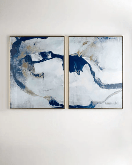 Percussion I II Giclee Two Piece Set Framed Wall Canvas Painting