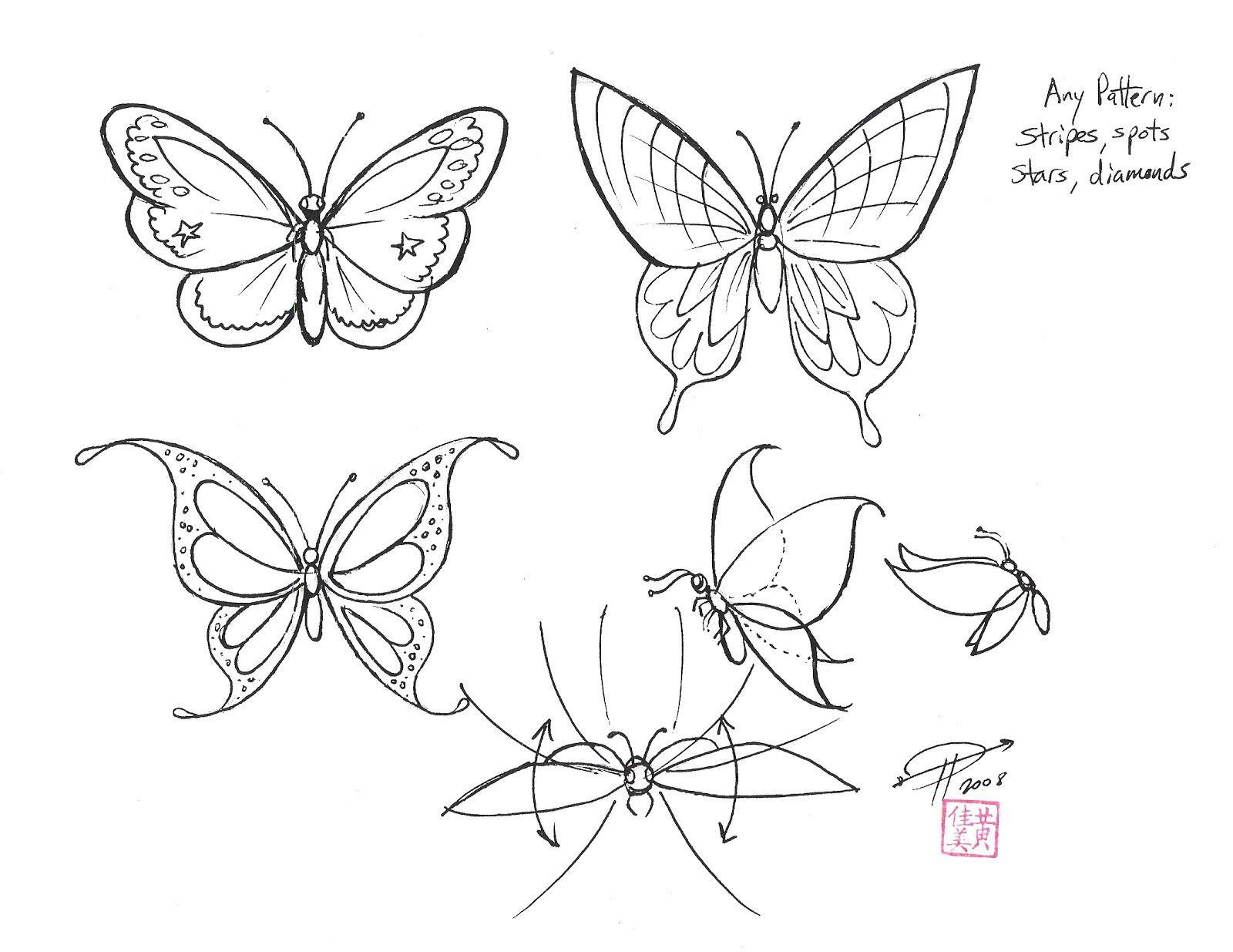Flying butterflies drawings google search