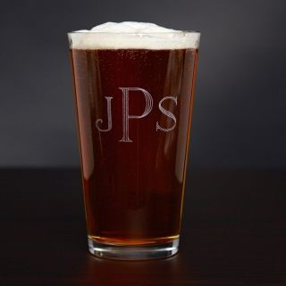 Personalized American Pint Glass, 16 oz, from HomeWetBar.com - Dad
