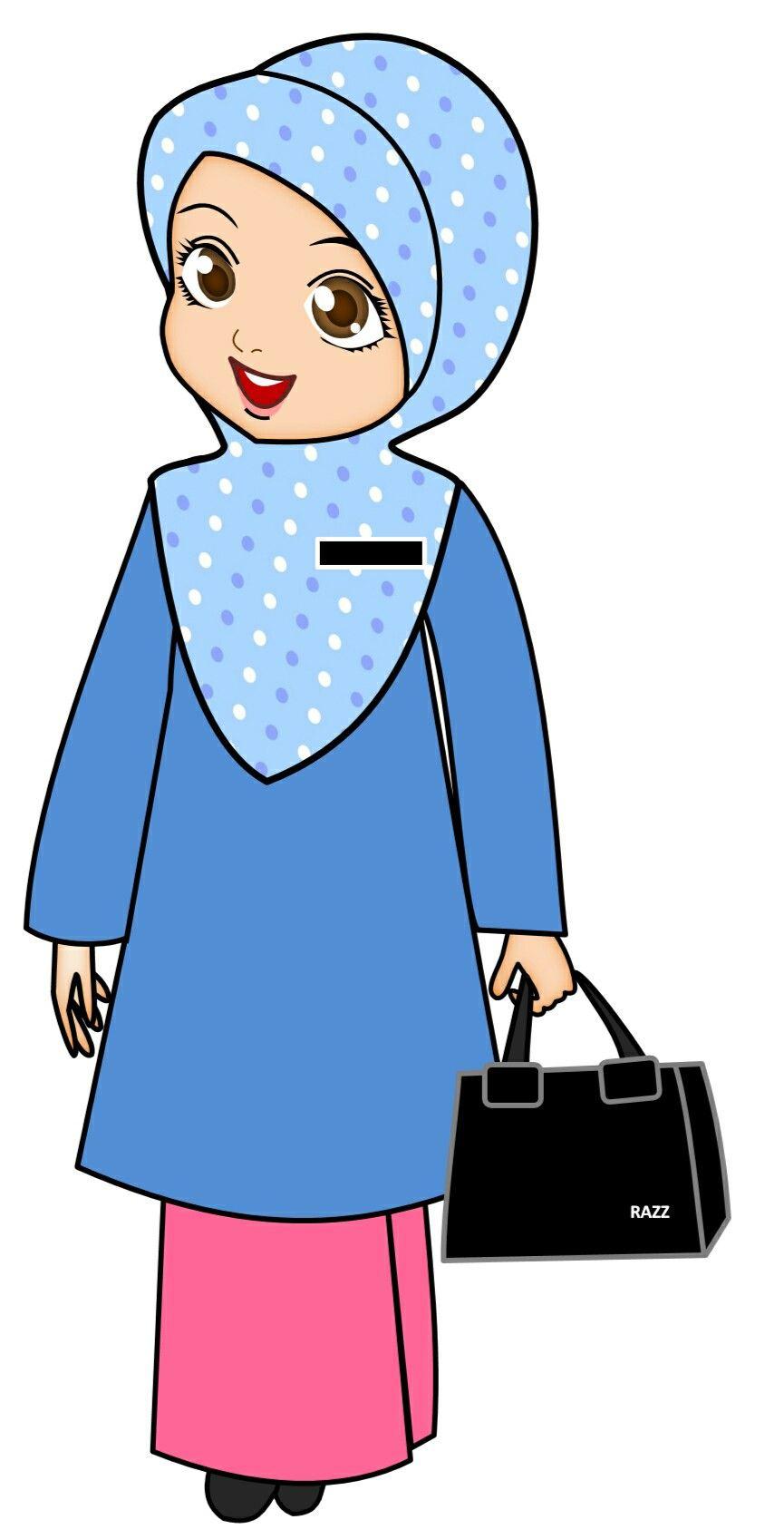 Gambar Kartun Guru : gambar, kartun, Doodle, Ideas, Muslim, Kids,, Hijab, Cartoon,, Anime