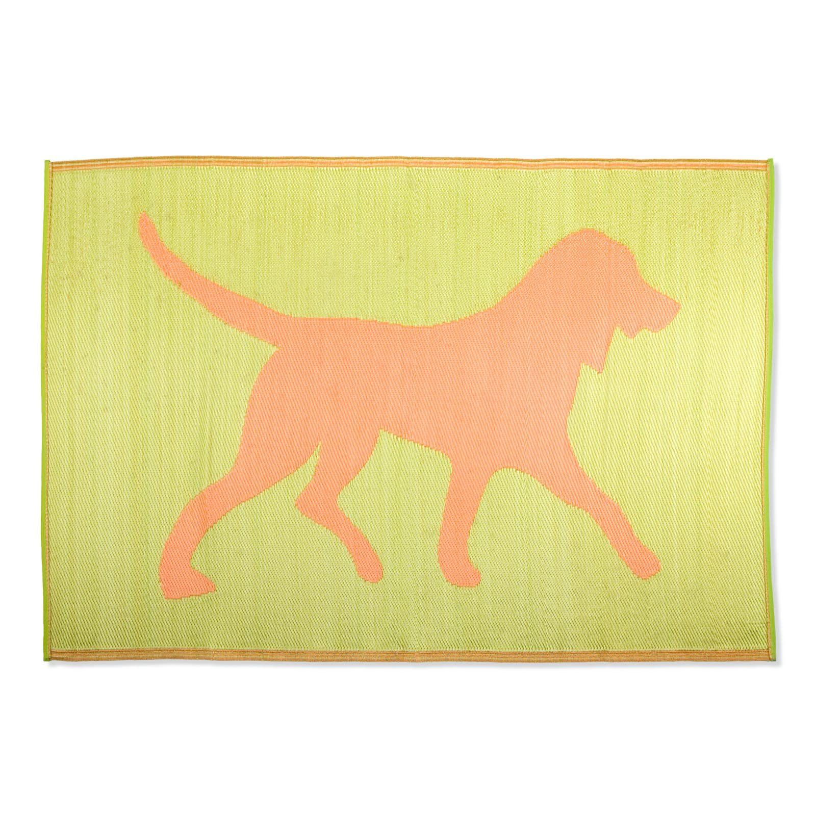 Koko Company Dogs Indoor Outdoor Area Rug Lime
