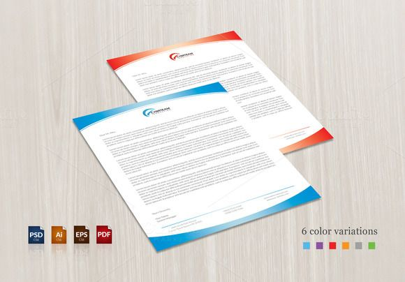Light Corporate Letterhead  Print Format Letterhead Design And