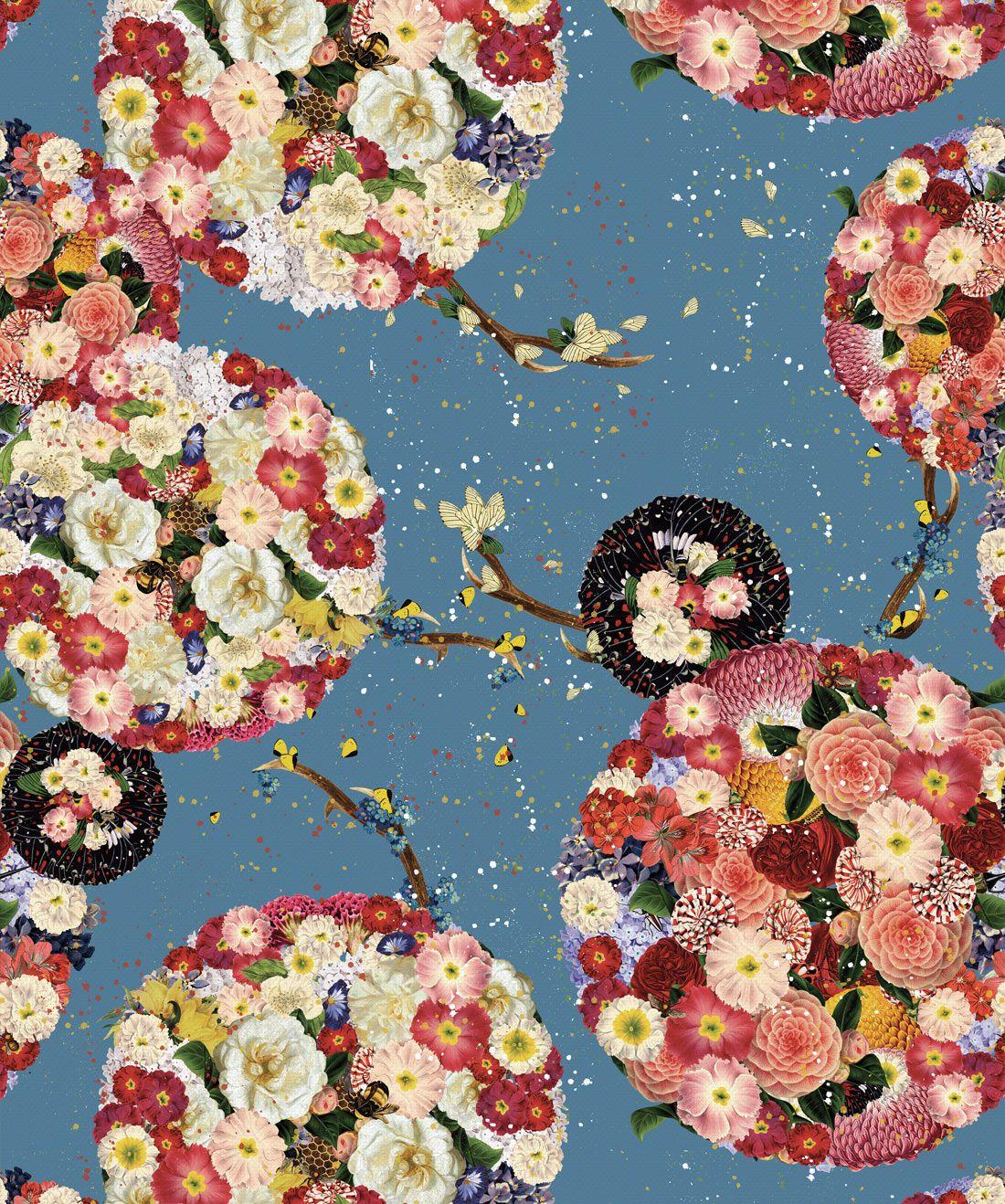 Garden Bloom Stunning Chinoiserie Wallpaper Wallpaper