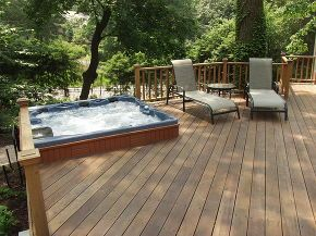 Do You Like Hot Tubs On A Deck Or Built In Hot Tub Landscaping Hot Tub Patio Hot Tub Deck