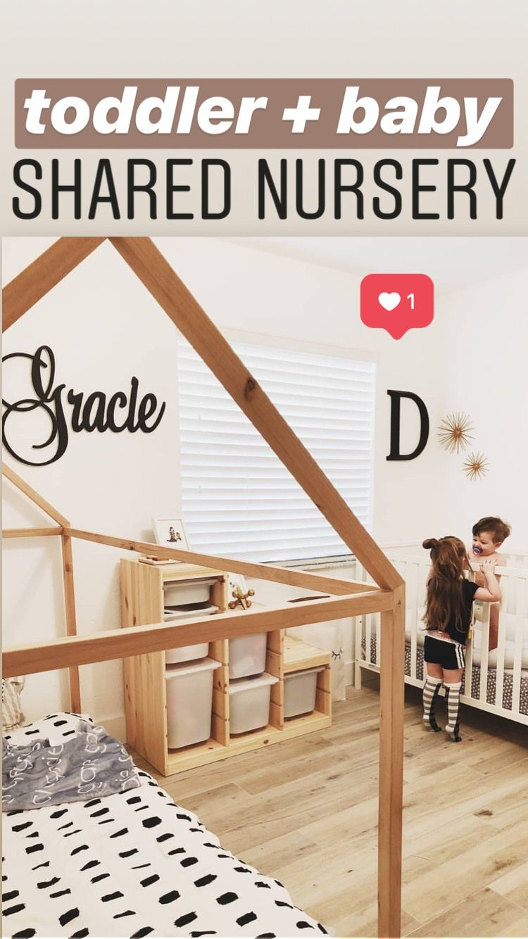 Baby and toddler shared nursery! This is so cute! images