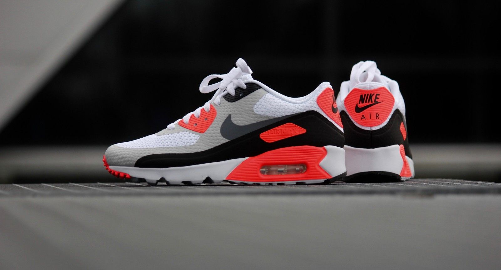 low priced adad4 a632a Nike Air Max 90 Ultra Essential OG Infrared White  CoolGrey - 819474-106