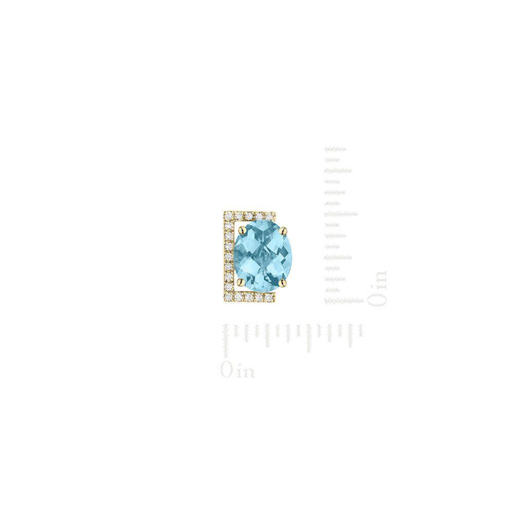 Galaxy Tigris Stud Earrings in Sky Blue Topaz, Diamonds