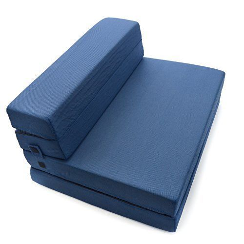 Milliard Tri Fold Foam Folding Mattress And Sofa Bed For Guests Or
