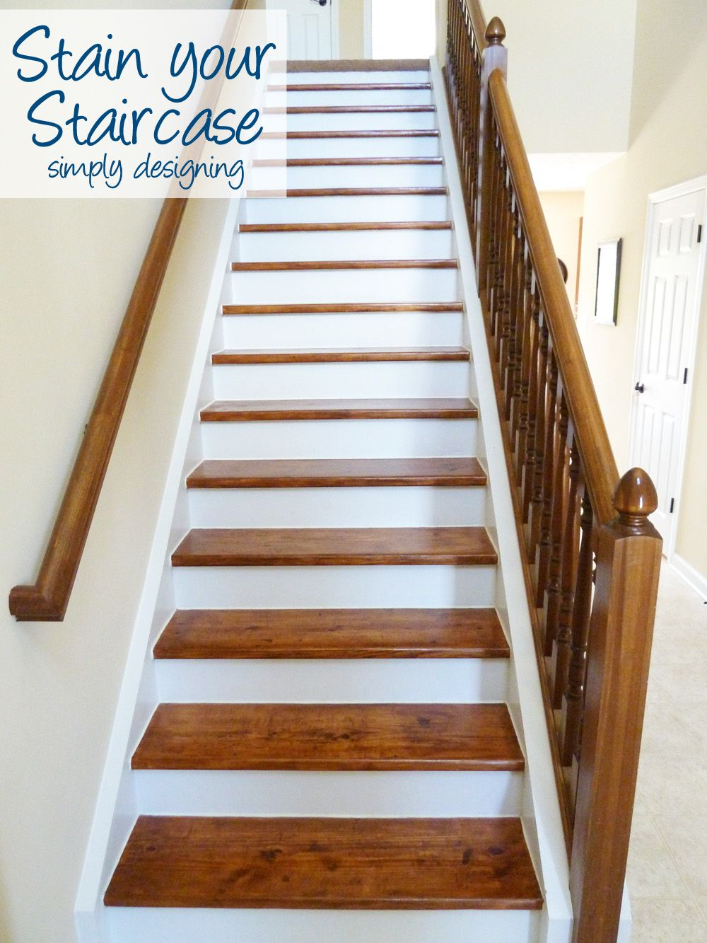 Staircase Make Over Part 6 The Finishing Touches Refinish