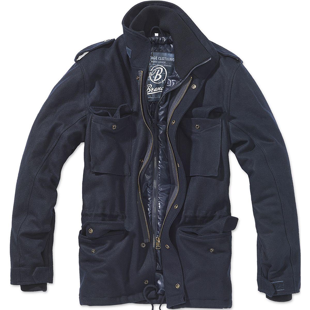 Brandit Jacke M-65 Voyager Wool navy