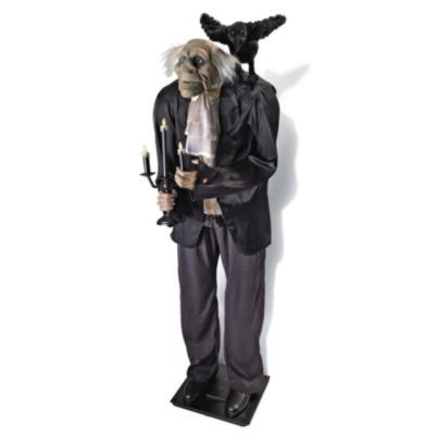 Totally Ghoul Animated Butler Halloween Decoration  from i.pinimg.com