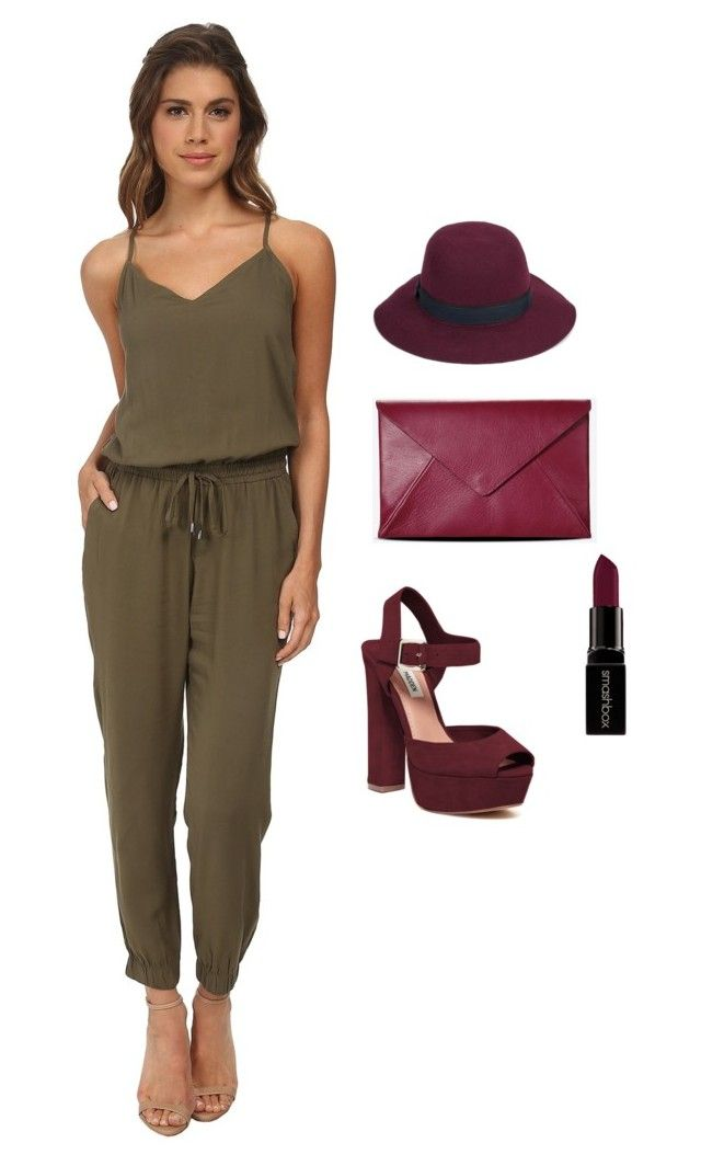 """wine take over"" by twinclair on Polyvore featuring Steve Madden, Splendid, Maison Margiela, Smashbox and Christys'"