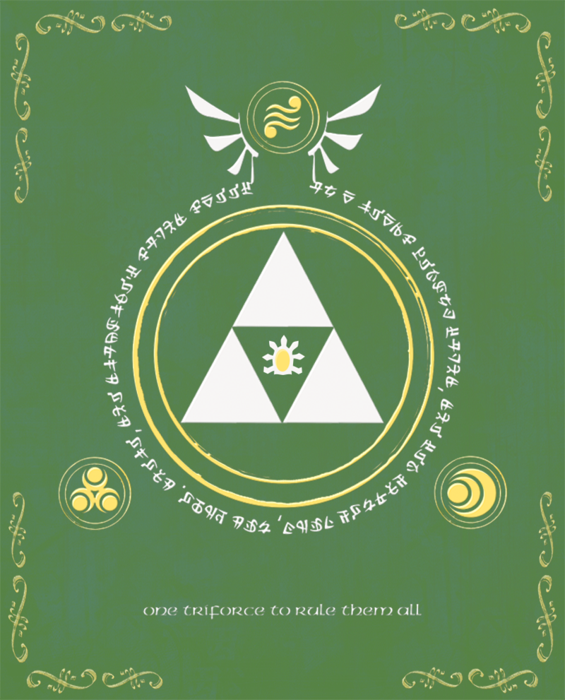 LOZ LOTR Lord of the Triforce Print by Enlightenup23 on deviantART