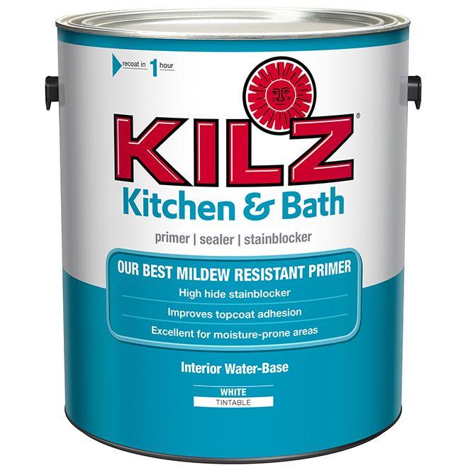 Kilz Water Based Primer Kitchen And Bathroom 3 78 L White