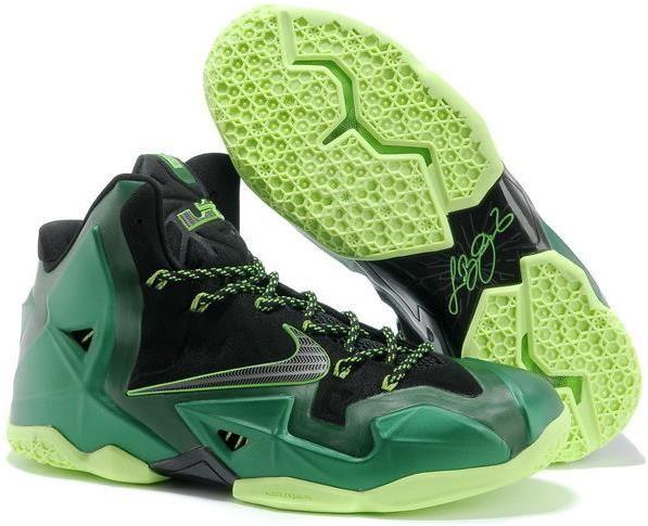 Nike Lebron 11 Dark Green Black