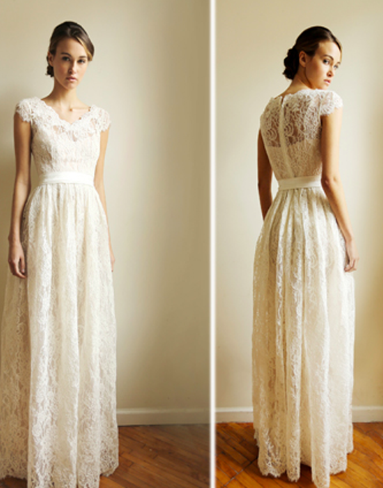 a9d16159e0b Eco-friendly lace gown designed by Leanne Marshall