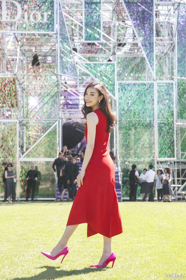 Actress Ni Ni Attends Christian Dior Fashion Show in Paris, France