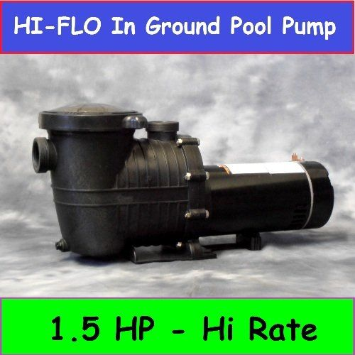 1 5 Hp In Ground Pool Pump Motor High Flo High Rate Replaces All Major Brands For Inground