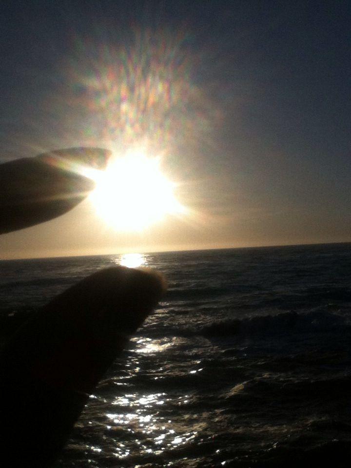 Sun setting, melting, sinking ❤