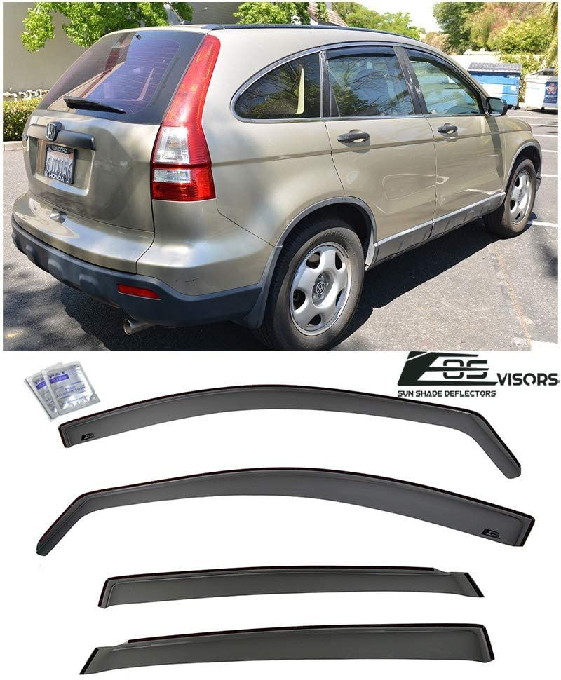Eos Visor For 07 11 Honda Cr V Jdm In Channel Side Window Rain Guard Deflectors Car Door Car Parts Online