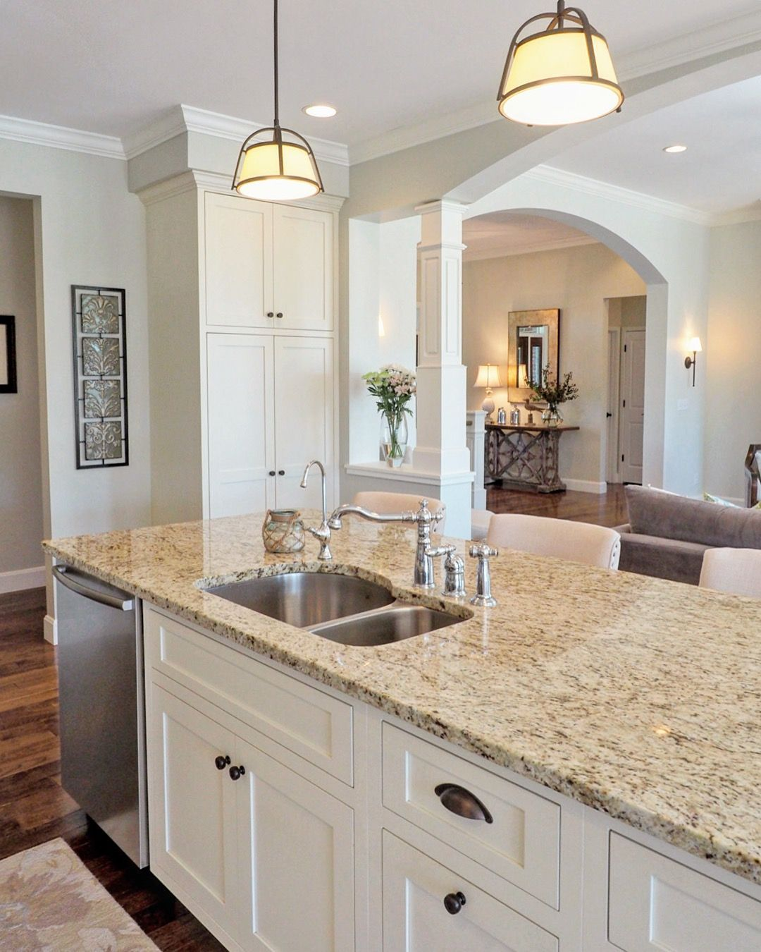 White Kitchen Cabinets And Countertops: Sherwin Williams Conservative Gray