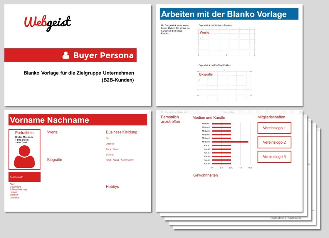 Kundenprofil Fur B2b Kundenperspektive Visualisieren Marketing Und Vertrieb Persona Kunde