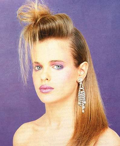 Astonishing 80S Hairstyles 1980S Hairstyles And Long Hair Buns On Pinterest Hairstyle Inspiration Daily Dogsangcom