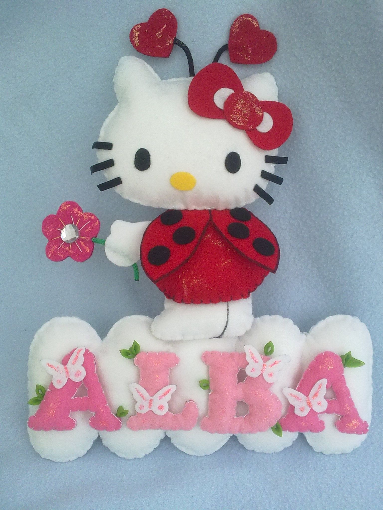 Hello kitty y alba decorando pinterest fieltro for Utensilios de cocina hello kitty