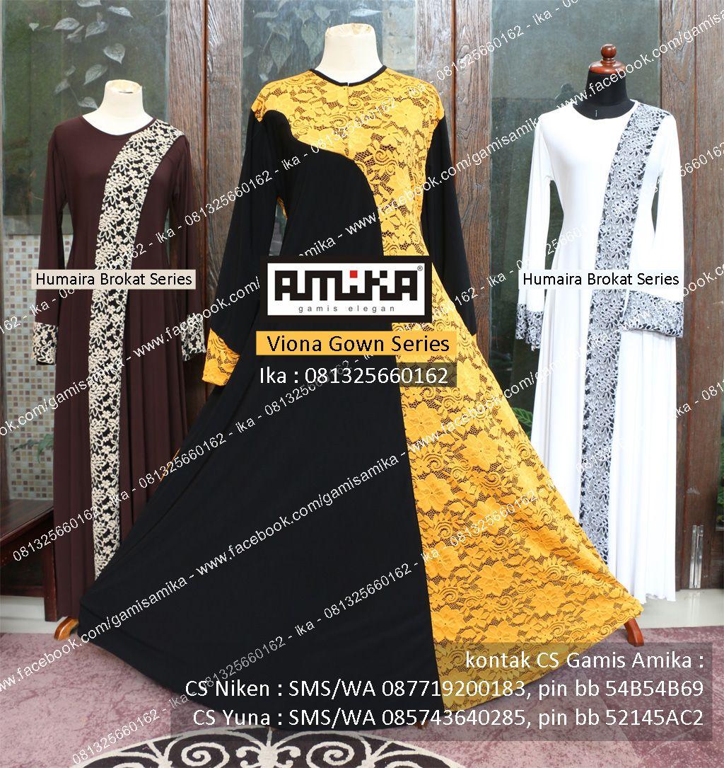 Gamis Amika Viona Gown Series Gamis Bisa Untuk Menyusui Gamis Bisa Request Ukuran Bahan Dan Jahitan In Sha Allah Berkualitas Pakaian Menjahit Brokat