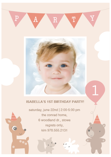 First birthday party invite baby animals greetings by costco first birthday party invite baby animals greetings by costco product details filmwisefo