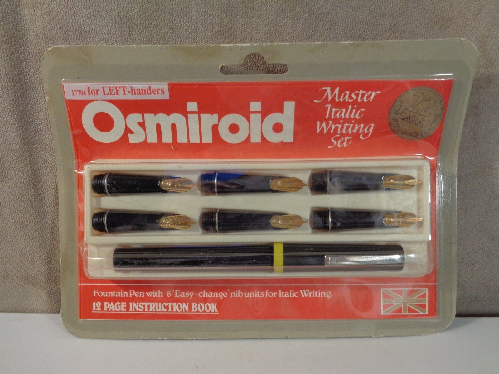 Vintage Osmiroid Master Italic Writing Set