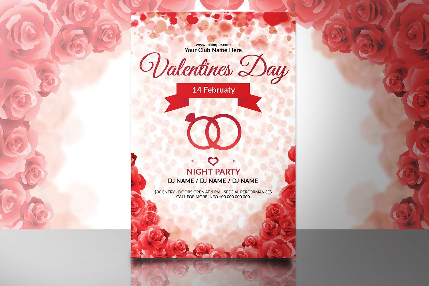Valentines Day Party Flyer Valentines Day Party Invitation Etsy In 2021 Party Invite Template Valentines Day Party Party Flyer