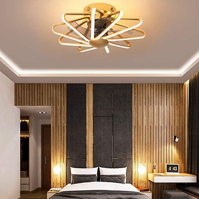 Amazon Com Ceiling Fan With Lights Modern Led Remote Control Mute Indoor Fandelier 3 Modern Ceiling Fan Bedroom Ceiling Fan With Light Living Room Ceiling Fan