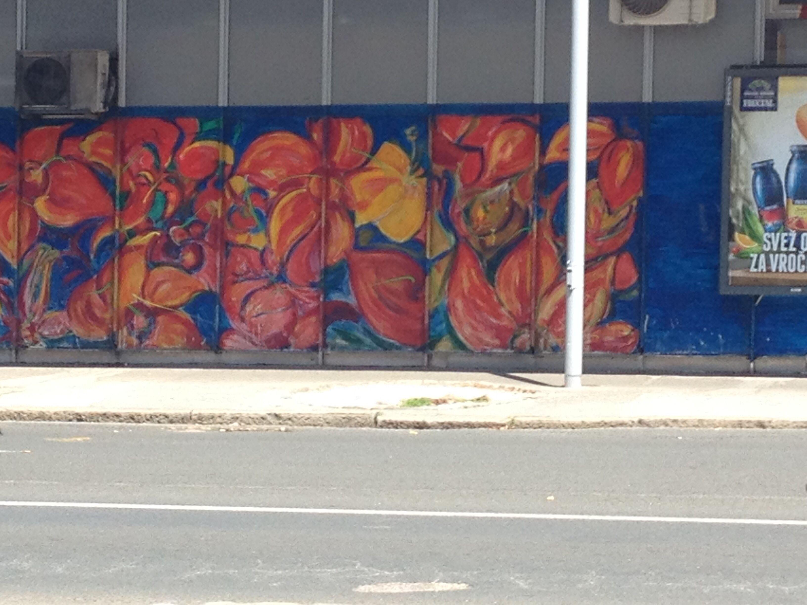 Flowers By The Bus Station In Ljubljana Street Art Graffiti Street Art Art