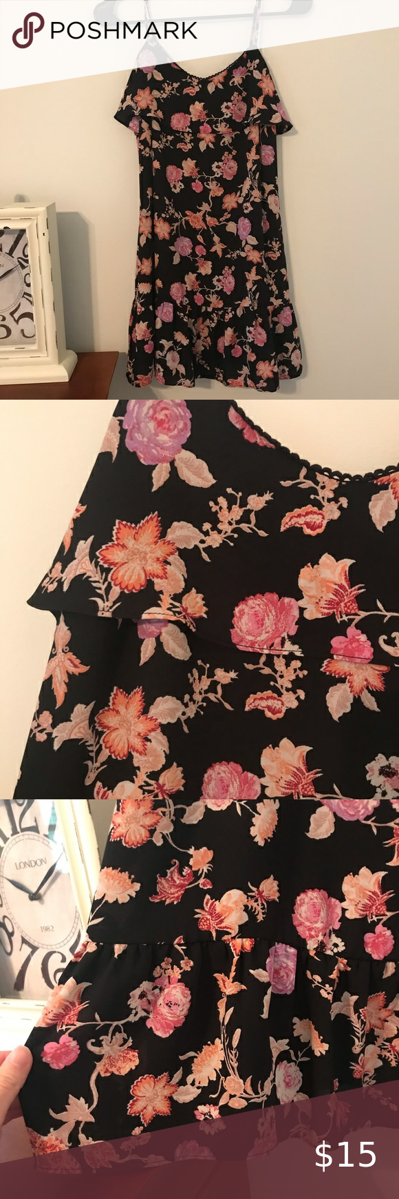Floral Dress Black Floral Dress From Target Worn Once Or Twice In Great Condition Ruffle Like Bottom Xhilaration Dres Floral Dress Black Floral Dress Floral [ 1740 x 580 Pixel ]
