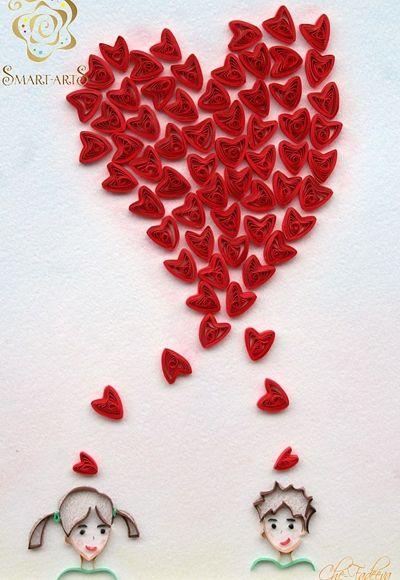 Валентинки своими руками: кружевные сердечки из бумаги в ...