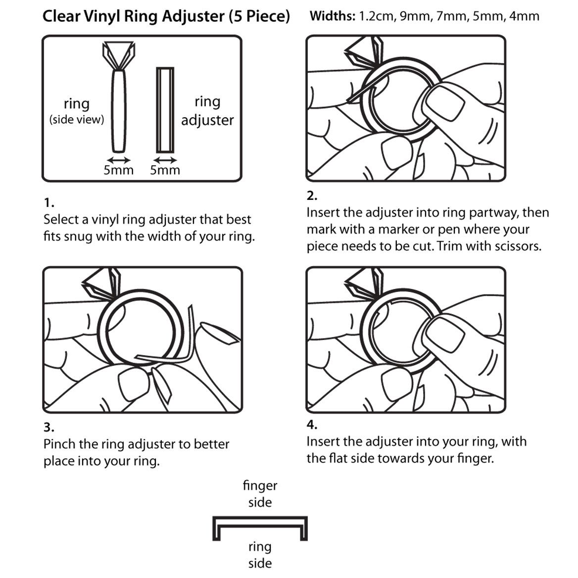 Ring Band Adjusters Set Of 5 Band rings, Buy rings, Rings