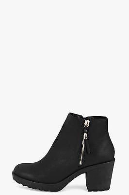 Boohoo womens amy fringe trim #block heel #chelsea boot in #black size 5,  View more on the LINK: http://www.zeppy.io/product/gb/2/361537631260/