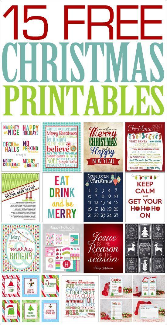 15 Christmas FREE Printables Free christmas printables, Free and - free christmas word templates
