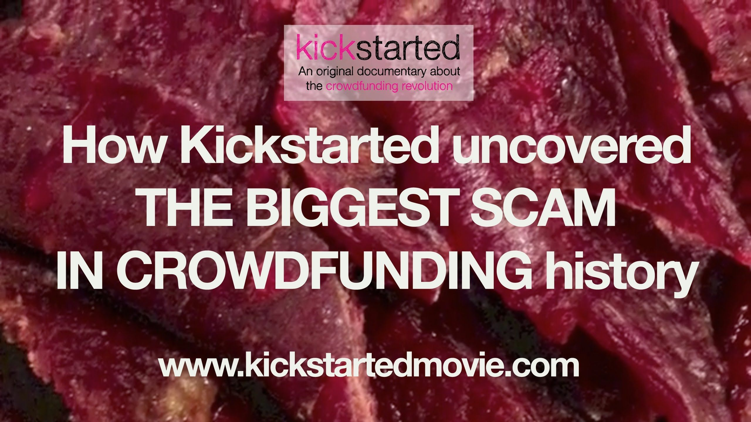 Crowdfunding scam - Kobe Red Beef Jerky